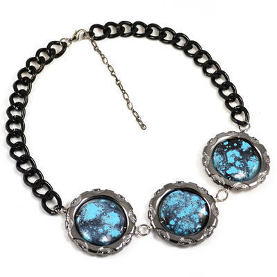 Necklace - turquoise - 1