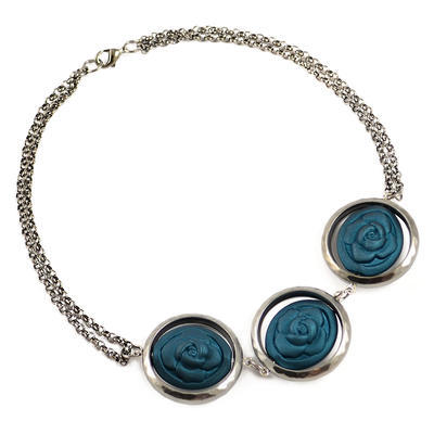Necklace - bluegreen - 1