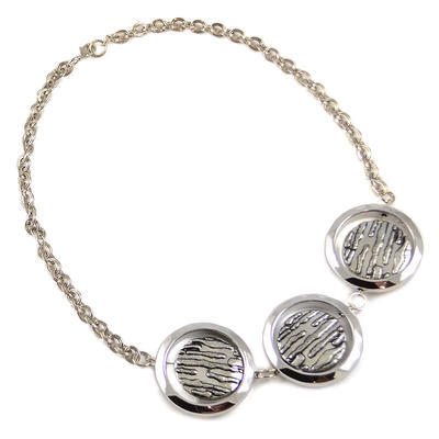 Necklace - silver grey