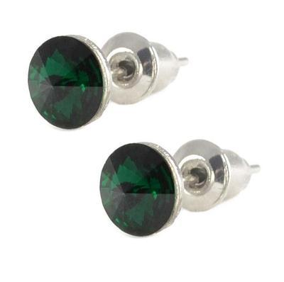 Rivoli Emerald Mikro earrings made with SWAROVSKI ELEMENTS