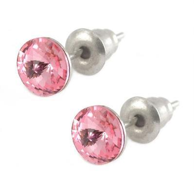 Rivoli Light Rose Mikro earrings made with SWAROVSKI ELEMENTS