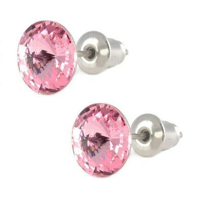 Rivoli Light Rose Mini earrings made with SWAROVSKI ELEMENTS