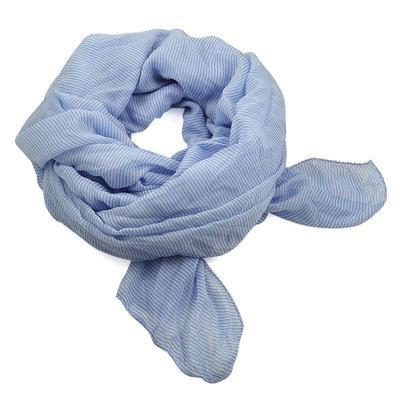 Classic women's cotton scarf - grey with flowers - 1