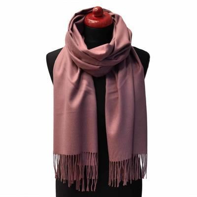 Classic cashmere scarf - old rose