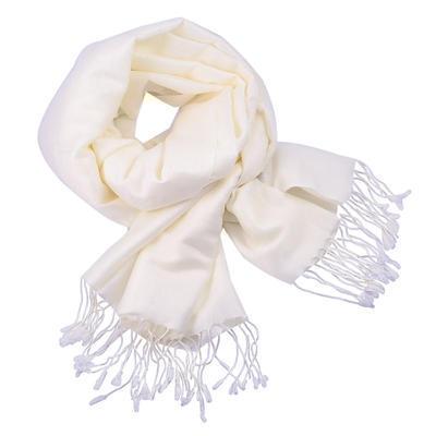 Classic cashmere scarf - white