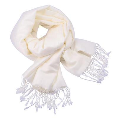 Classic warm scarf - white - 1