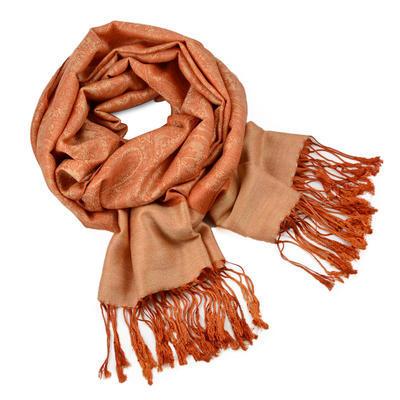 Classic cashmere scarf - orange
