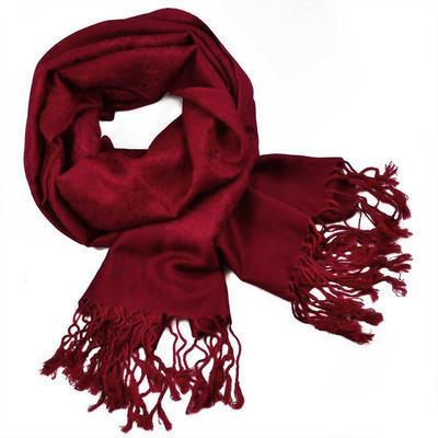 Classic cashmere scarf - dark red