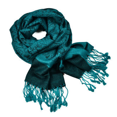 Classic cashmere scarf - dark bluegreen