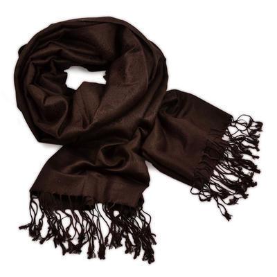 Classic cashmere scarf - dark brown