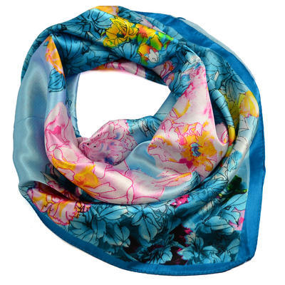 Small neckerchief 63sk004-32.23 - turquoise - 1