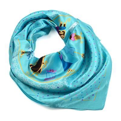 Small neckerchief 63sk009-32 - turquoise - 1