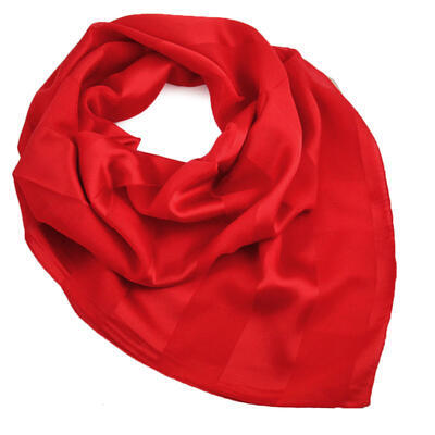 Square scarf - red