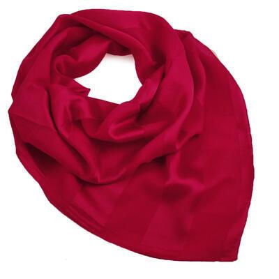 Square scarf - dark red