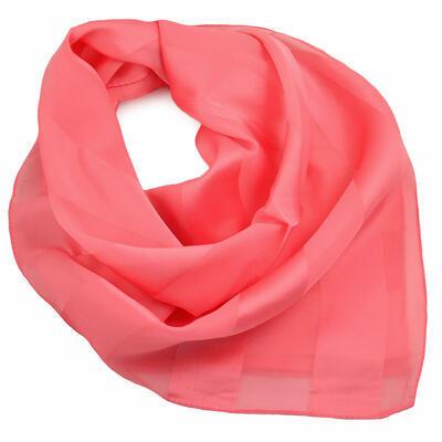Square scarf - coral - 1