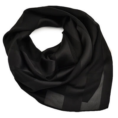 Square scarf - black - 1
