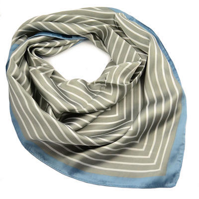 Square scarf - grey and blue - 1