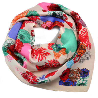Square scarf- multicolour - 1