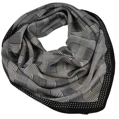 Square scarf - black and white - 1