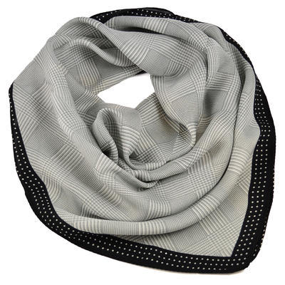 Square scarf- grey and black - 1