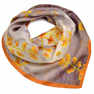 Small neckerchief - brown and mustard - 1