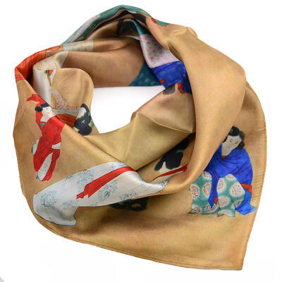 Small neckerchief - brown and blue - 1