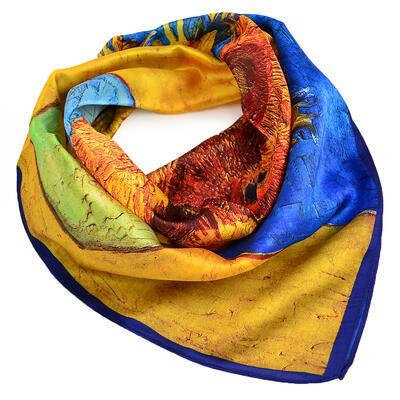 Small neckerchief - yellow and blue - 1