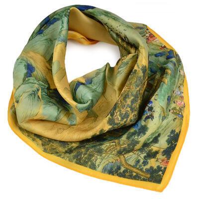 Small neckerchief - yellow and green - 1
