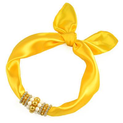 Jewelry scarf Stewardess - yellow - 1