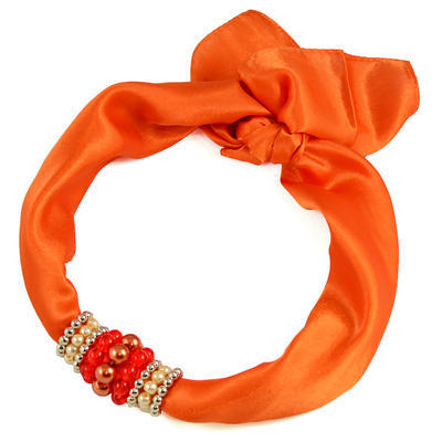 Jewelry scarf Stewardess - orange - 1