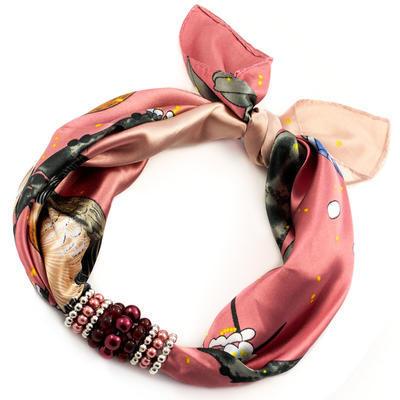 Jewelry scarf Stewardess - pink - 1