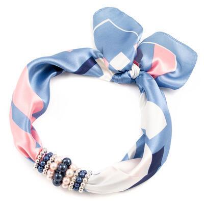 Jewelry scarf Stewardess - light blue - 1