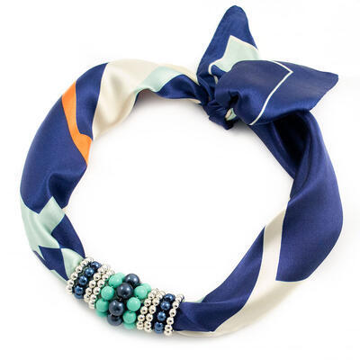 Jewelry scarf Stewardess - light blue - 1