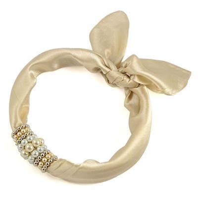 Jewelry scarf Stewardess - beige - 1