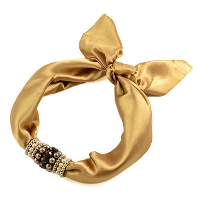 Jewelry scarf Stewardess - golden beige - 1