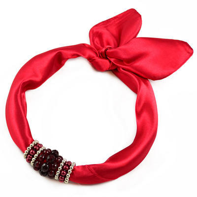 Jewelry scarf Stewardess - red - 1