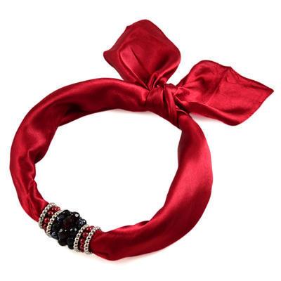 Jewelry scarf Stewardess - dark red - 1