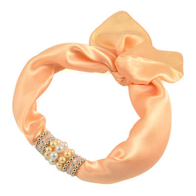 Jewelry scarf Stewardess - peach orange - 1
