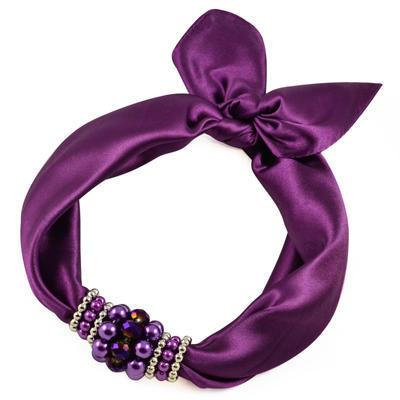 Jewelry scarf Stewardess - violet - 1
