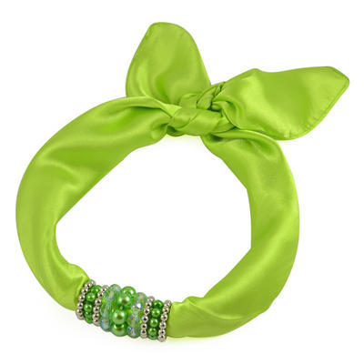 Jewelry scarf Stewardess - apple green - 1