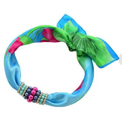 Jewelry scarf Stewardess - blue and green - 1