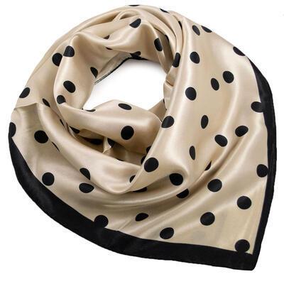 Small neckerchief - beige and black - 1