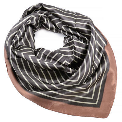 Small neckerchief - brown with stripes - 1