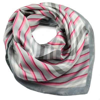 Small neckerchief 63sk004-01.20 - white and beige - 1