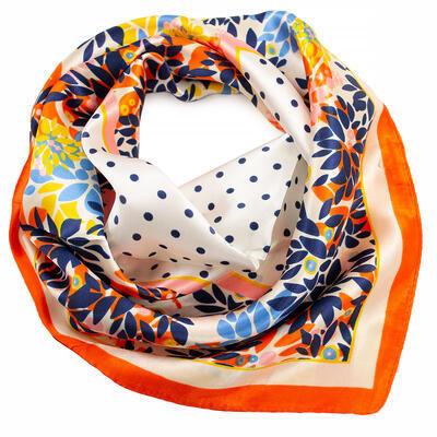 Small neckerchief - white and orange - 1