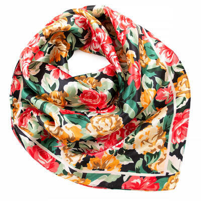 Small neckerchief - red and green - 1