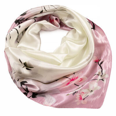 Small neckerchief - pink and beige - 1