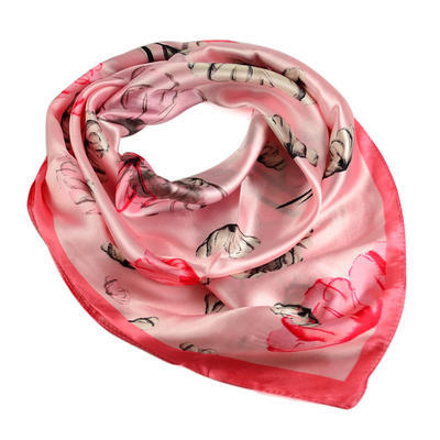 Small neckerchief 63sk004-23.27 - pink - 1