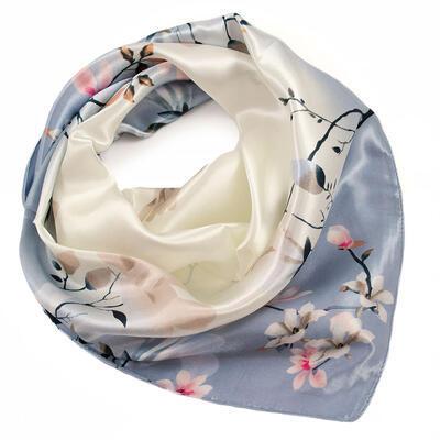 Small neckerchief - grey and beige - 1