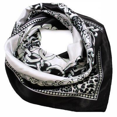 Small neckerchief - black and white - 1